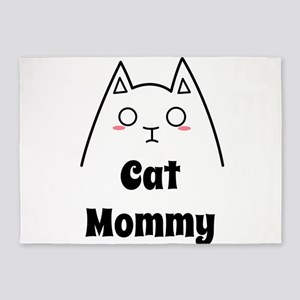 Love My Cat Mommy 5'x7'Area Rug